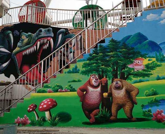 苏州游乐园彩绘